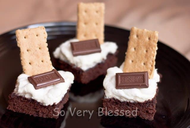 S'more Brownies Recipe : So Very Blessed