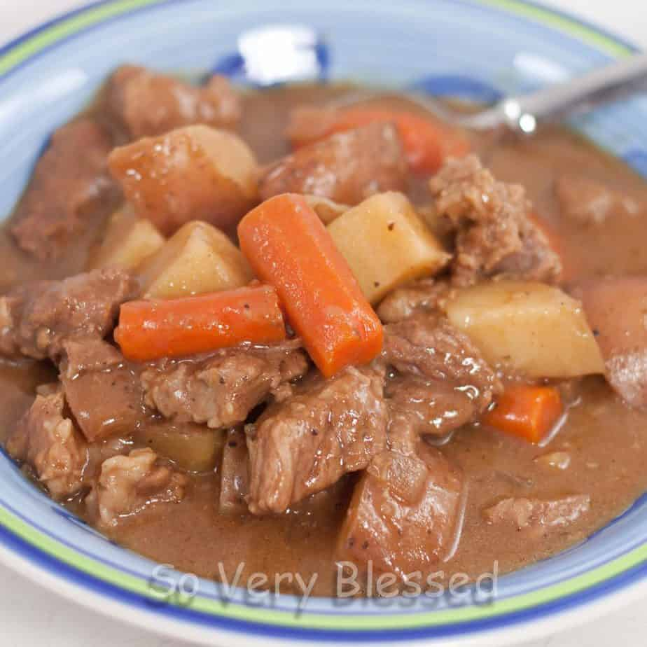 Crockpot Beef Stew : So Very Blessed