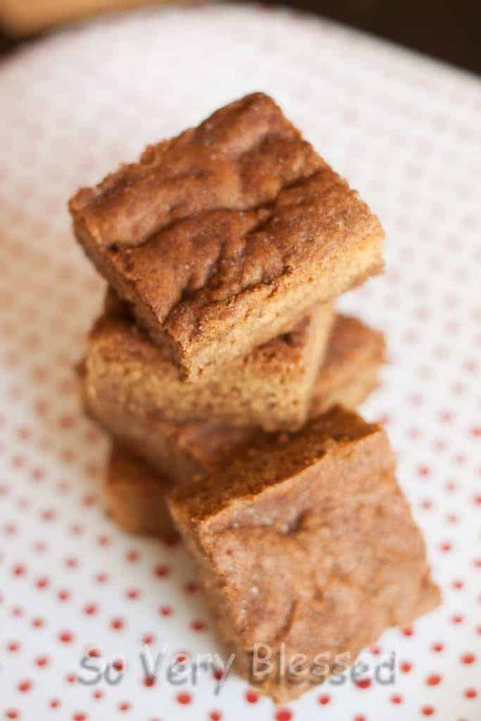 Maple Snickerdoodle Bars Recipe