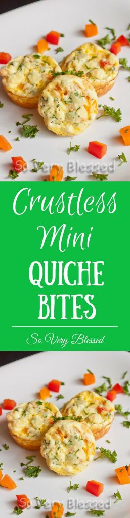 Crustless Mini Quiche Bites Recipe - These Crustless Mini Quiche Bites are the perfect healthy breakfast that is packed with protein to keep you full all morning long.
