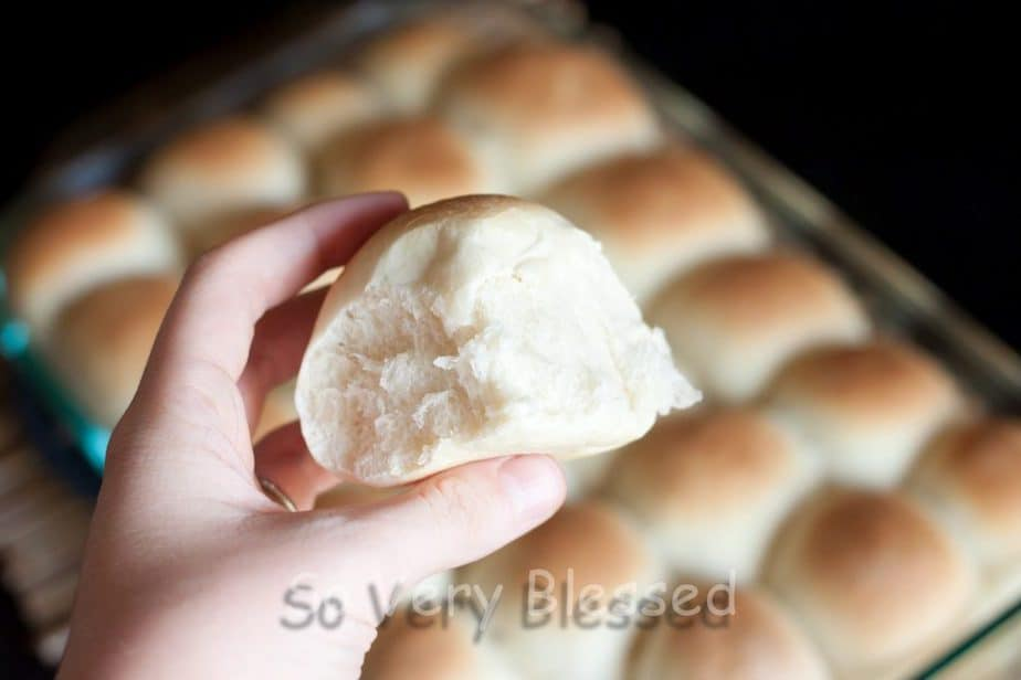 Fluffy Bread Machine Rolls Recipe : So Very Blessed