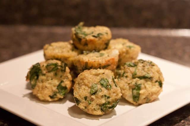 Spinach Parmesan Quinoa Bites : So Very Blessed