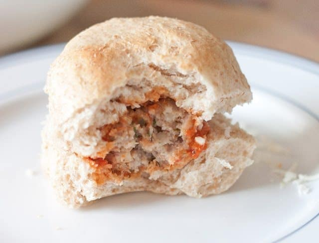 Asiago Turkey Meatball Sliders Recipe : So Very Blessed