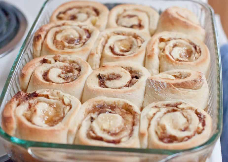 Apple Walnut Cinnamon Rolls Recipe : So Very Blessed - These Apple Walnut Cinnamon Rolls are my go-to breakfast recipe when I have out of town guests, because I can make them the night before. It's kind of like eating apple pie for breakfast...except way better.