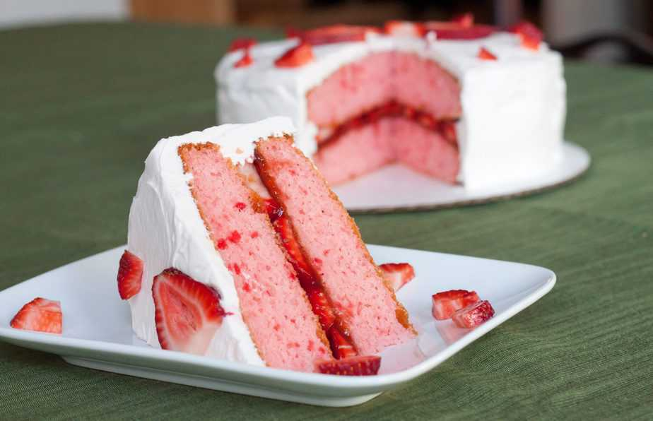 Strawberry Cake Box Mix