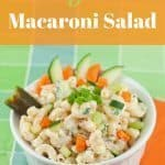 Lighter Macaroni Salad Recipe