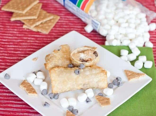 S'mores Egg Rolls Recipe