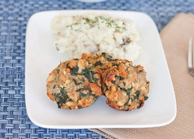 Turkey Spinach Mealoaves Recipe : So Very Blessed - These individualmeatloavesuse ground turkey and spinach for an easy, healthy, and delicious dinner to throw together on a busy weeknight!