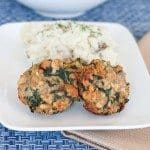 Turkey Spinach Meatloaves Recipe