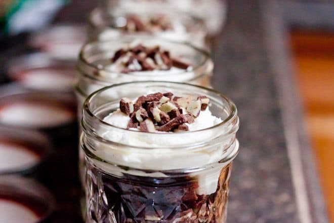 Brownie Mint Trifles Recipe : So Very Blessed