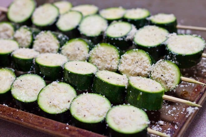 This Grilled Parmesan Zucchini is the perfect summer recipe for a simple, healthy, and delicious vegetable side dish!