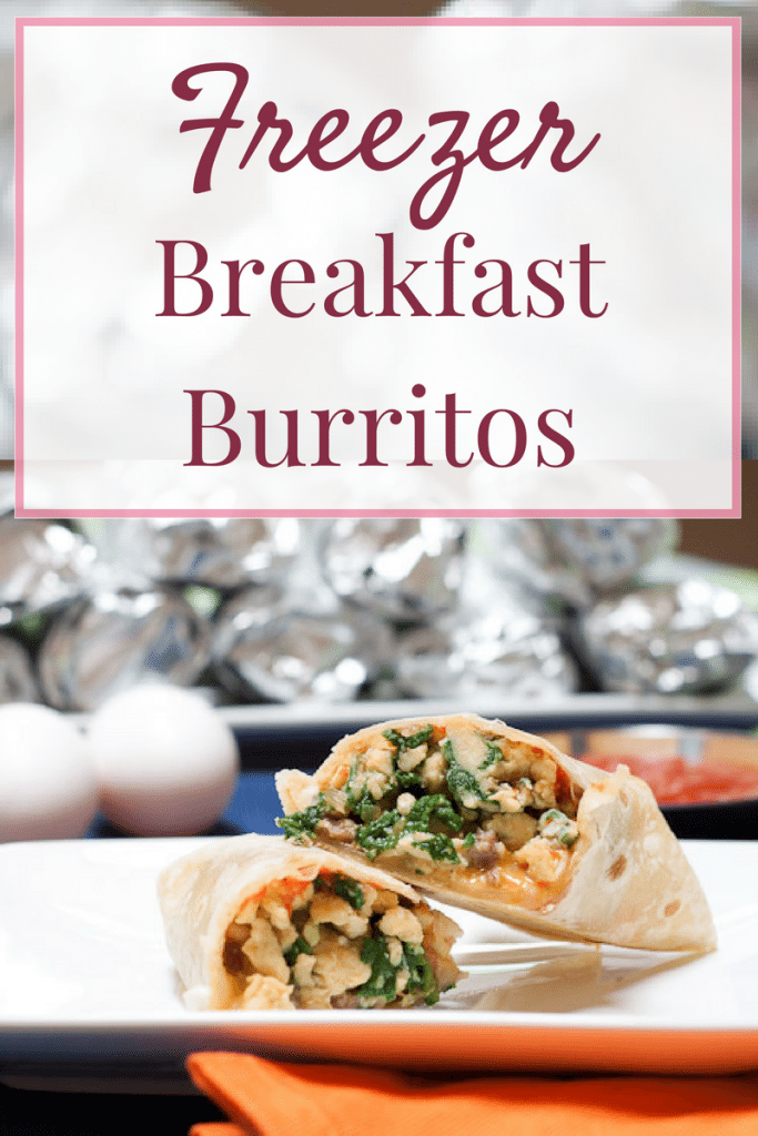 Freezer Breakfast Burrito Recipe : So Very Blessed - The perfect healthy make ahead breakfast to start your morning off right with both protein and vegetables!