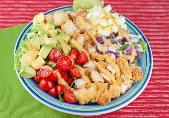 Crispy Chicken Salad Recipe : So Very Blessed