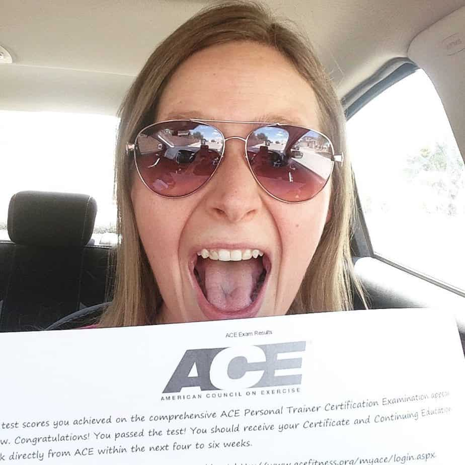 I Am Now An Ace Certified Personal Trainer So Very Blessed So