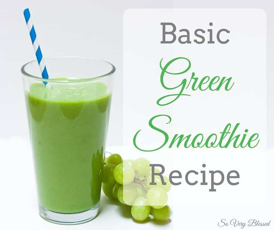 Basic Green Smoothie Recipe