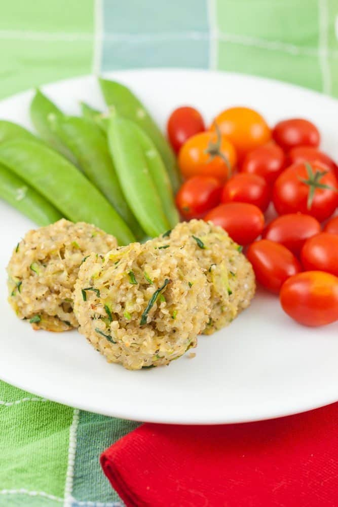 Cheesy Zucchini Quinoa Bites : So Very Blessed - Shredded zucchini, mozzarella cheese, and quinoa come together in this bite-sized, protein-packed healthy treat. This is the recipe that made my quinoa-hating sister a quinoa bite convert!