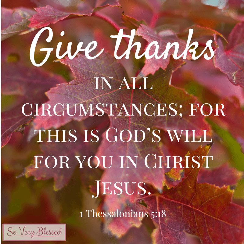 give thanks bible verse