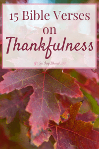 15 Bible Verses on Thankfulness : So Very Blessed - Read through these Bible verses on thankfulness to fall more in love with God and cultivate a deeper heart of joy and gratitude.