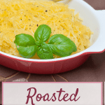 Roasted Spaghetti Squash Recipe : So Very Blessed – This easy roasted spaghetti squash makes pasta-like strands that make for a perfect and versatile healthy winter vegetable side dish.