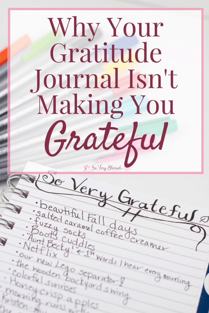 Gratitude journals are wonderful and I love them and use them daily, but it's not going to give you a heart of thankfulness without this one missing piece.