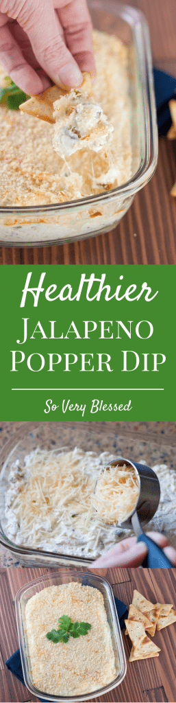 This Healthier Jalapeno Popper Dip is still just as creamy and cheesy as the original but made lighter with Greek yogurt and Neufchatel.