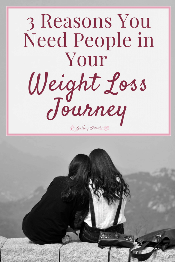 As tempting as it is to try to handle it all by yourself, here are 3 reasons why you absolutely NEED people to walk with you in your weight loss journey.