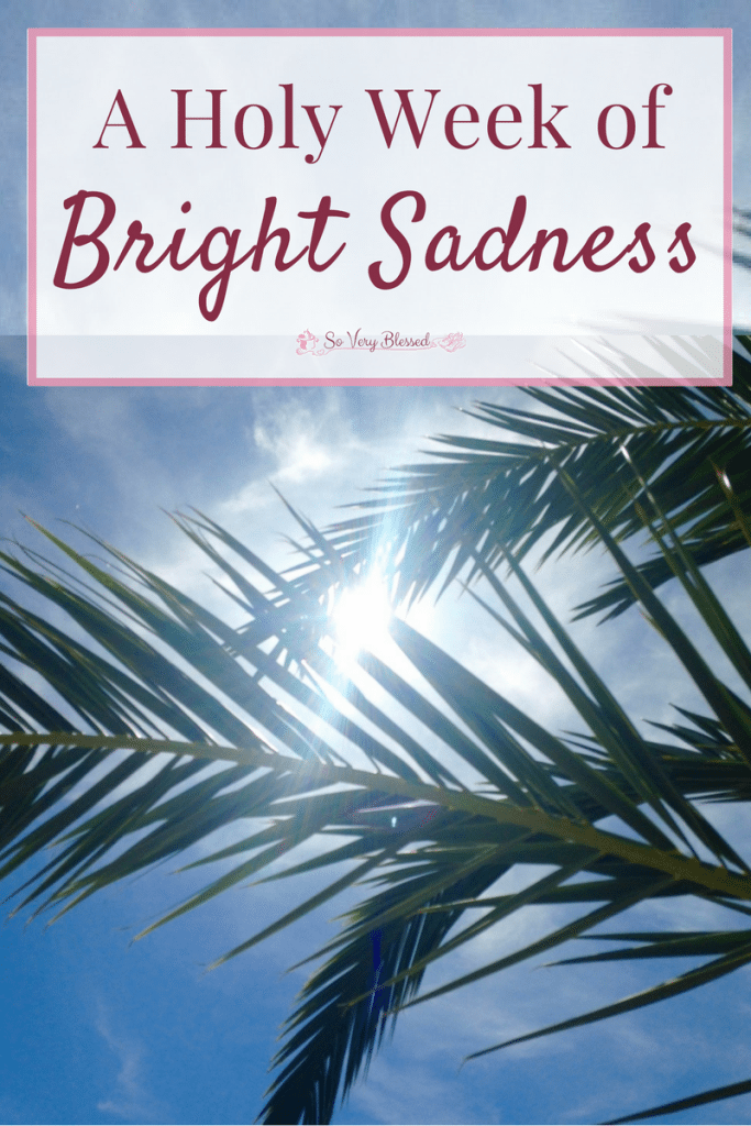 We are in the middle of Holy Week right now and there are two words that capture the emotions I feel walking through it every year - bright sadness.
