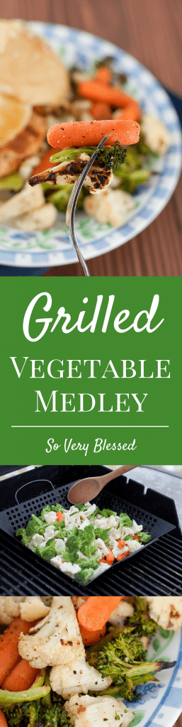 This Grilled Vegetable Medley, full of carrots, broccoli, and cauliflower, is the perfect healthy side dish for summer meals.