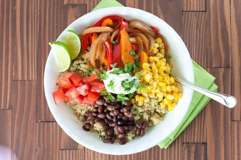 Quinoa & Black Bean Burrito Bowls Recipe