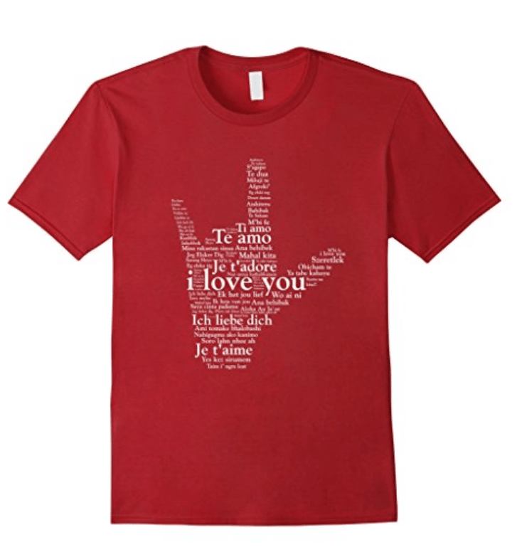 Sign Language T-Shirt Love In Every Language