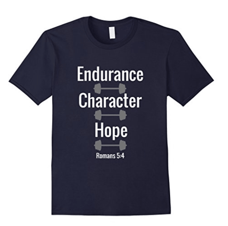 Christian Workout T-Shirt Endurance Character Hope