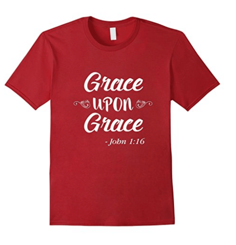 Inspirational Christian Women's T-Shirt Grace Upon Grace
