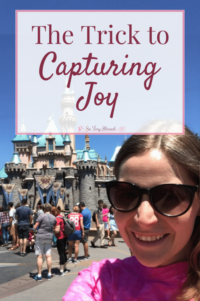 Everybody wants to be happy, but there is a trick to capturing joy - one thing that separates those wanting to feel joy from those who are truly joyful.
