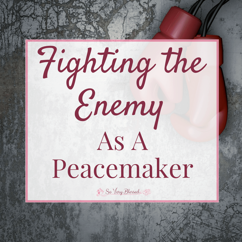 Fighting The Enemy As A Peacemaker