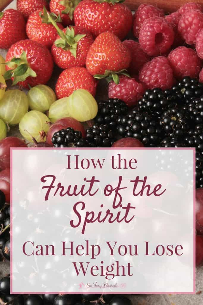 The Fruit of the Spirit are great guides for Christian living, but can they also help you lose weight? You bet they can!