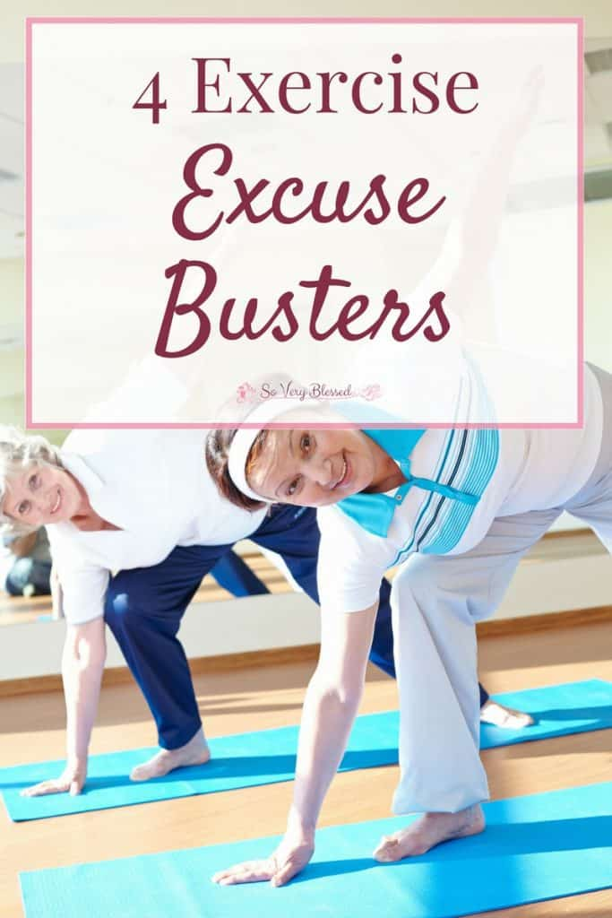 Use these 4 exercise excuse busters to break through the endless excuses and turn those good intentions into healthy living actions.