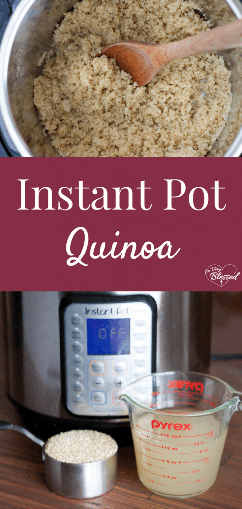 This simple, fluffy Instant Pot quinoa is made in a pressure cooker - perfect for healthy meal prep and to use in quinoa bites!