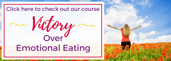 Find Victory Over Emotional Eating with this 4-week course with Faithful Finish Lines