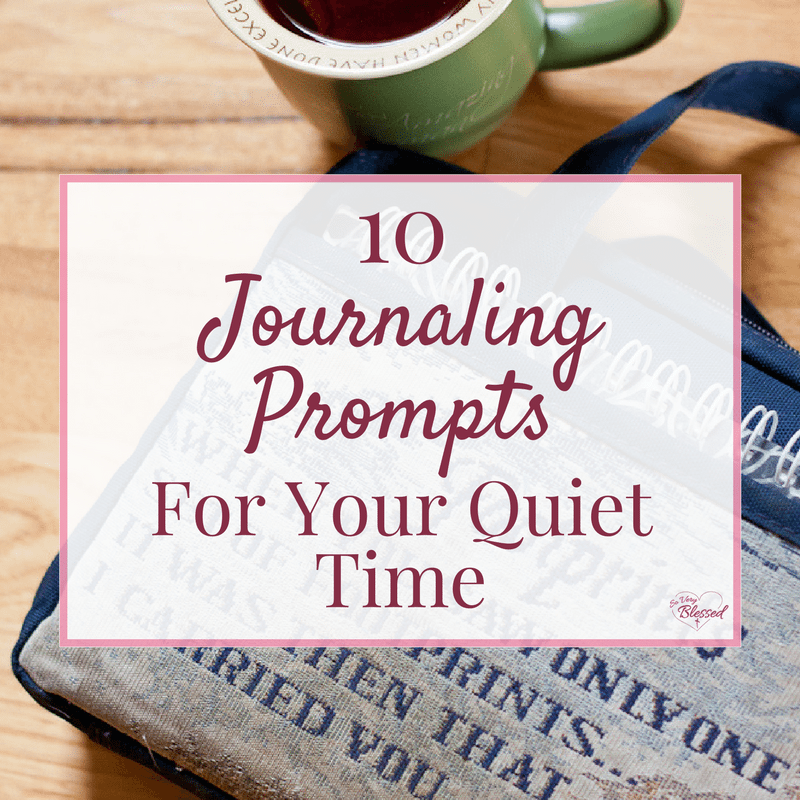 If you are wanting to take your relationship with God to a deeper level, here are 10 journaling prompts for you to use in your quiet time to give you a way to stay focused, dive deeper, and intentionally seek the Lord in your daily life.
