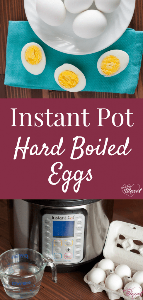Instant Pot Hard Boiled Eggs are super easy to peel, fast, easy, delicious, and the perfect high protein breakfast or snack for your weekly meal prep.