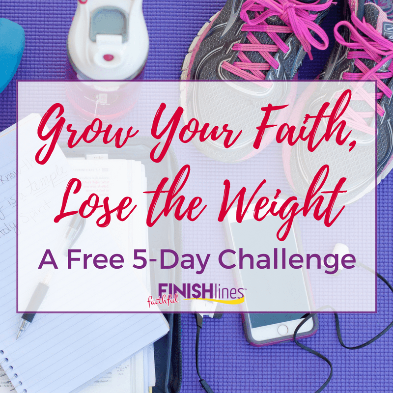 The Grow Your Faith, Lose the Weight free 5 day challenge leads women to grow in their relationship with Christ while finding freedom from weight loss struggles.