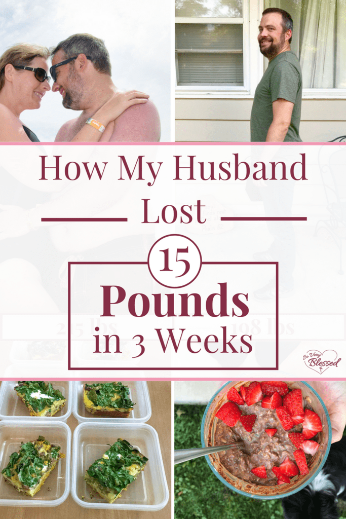 It's common for men to gain weight after they get married, but here is how my husband lost 15 pounds in 3 weeks without exercise (and he still ate ice cream!).