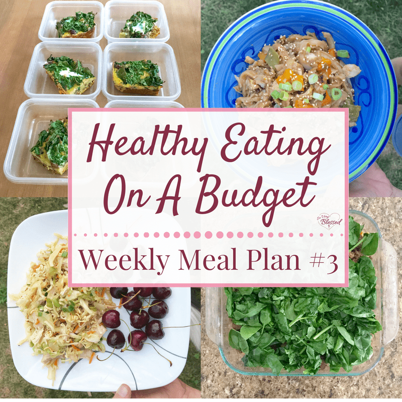 Healthy Eating On A Budget – Weekly Meal Plan #3