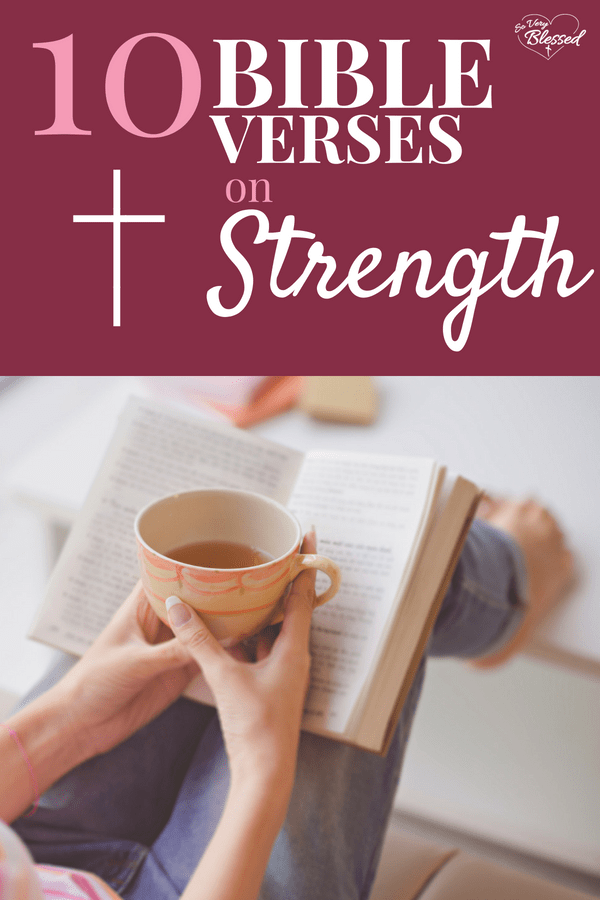 For the days when you feel weak, discouraged, and tired, here are 10 Bible verses about strength that are encouraging and uplifting, to strengthen your faith in hard times.