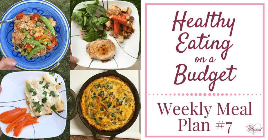 Healthy Eating On A Budget – Weekly Meal Plan #7