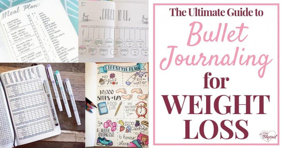 A bullet journal is great for organizing your life and now it can help you on your weight loss journey, as well with nutrition, fitness, and habit trackers!