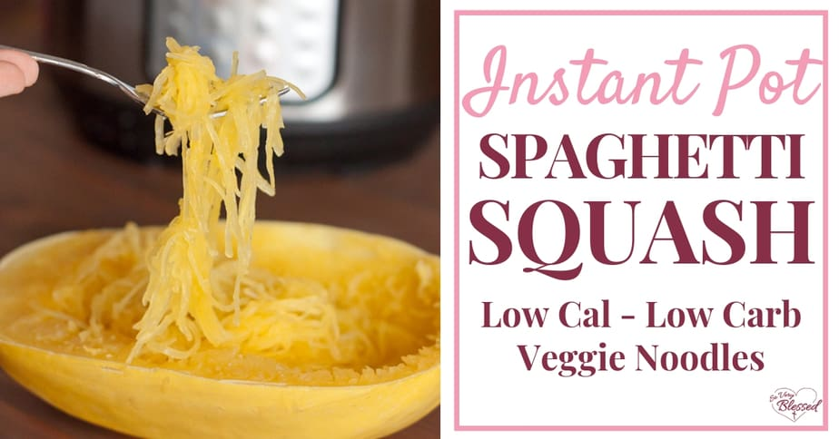 This Instant Pot Spaghetti Squash recipe is a fast and easy vegetable dish that is low calorie and low carb, making it a great food for weight loss!