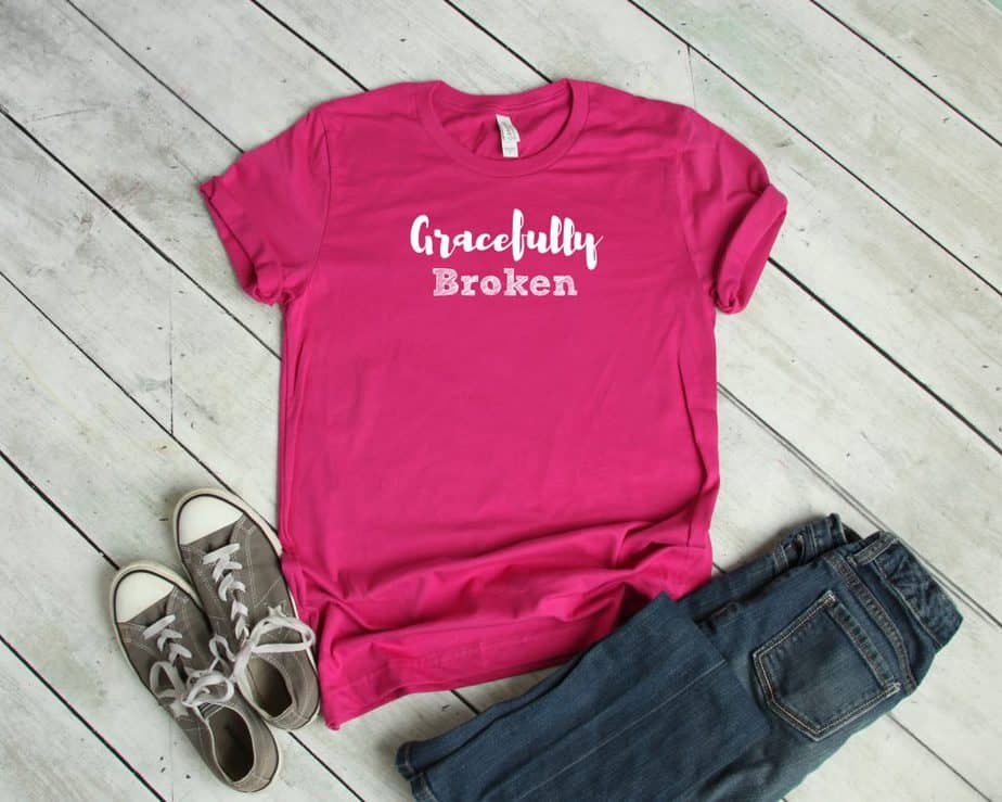 Gracefully Broken | T-Shirts for Christian Women | Faith Tees | So Very Blessed