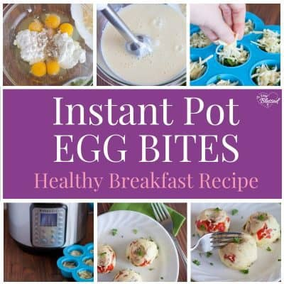 These are soft, creamy egg bites with cheese, meat, and vegetables, making them a healthy breakfast that is also full of protein that will keep you full all morning.