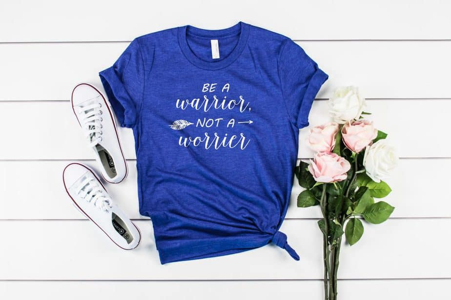 Be A Warrior Not A Worrier | T-Shirts for Christian Women | Faith Tees | So Very Blessed
